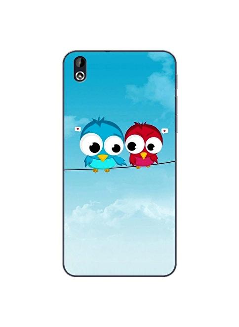 People's Cover Htc Desire 816 Kabartmalı Telefon Kılıfı Renkli